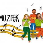 Logo voor: 'Kind en Muziek': Kinderkoor en 'La Fluterie'