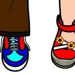 Detail van schoenen uit logo 'Villa Nova'