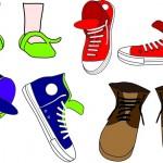 Detail uit het logo: 'Kind en Muziek': schoenen