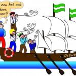 Plaatje 5: 'Vertrouwend op eigen kracht' Stripverhaal Expeditie Columbus
