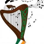 Ierse Harp, cottage, Keltische kunst en Ierse vlag