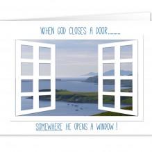 When God closes a door…..