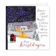 Kerst 15: Couple/Stel in sneeuwlandschap