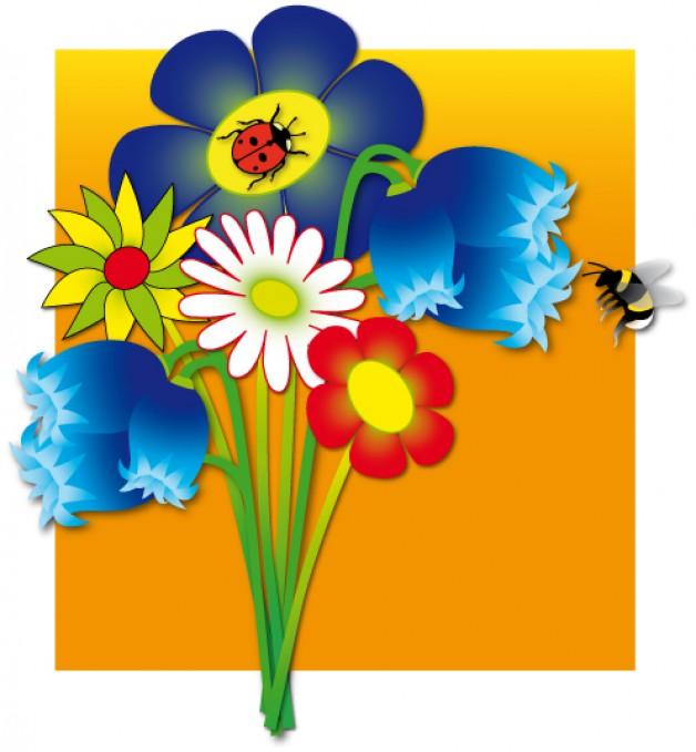 Bloemen en Hommel